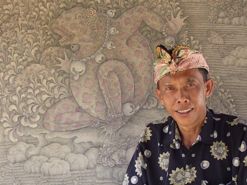 Gusti Putu Sana Balinese schilder DwiBhumi Balinese dans kunst