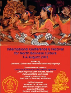 Conference and festival for North Balinese culture