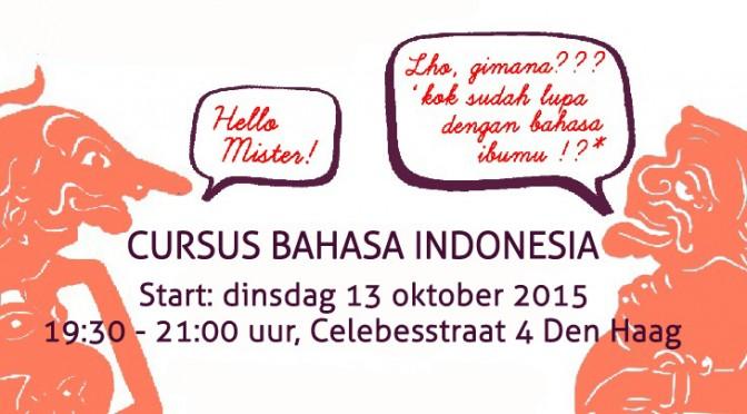 Cursus Bahasa Indonesia (beginners) van DwiBhumi van start in Den Haag op dinsdag 13 oktober