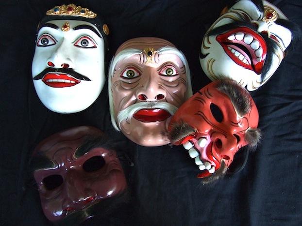 DwiBhumi-Topeng Pajegan tentoonstelling expositie Balinese dans maskers