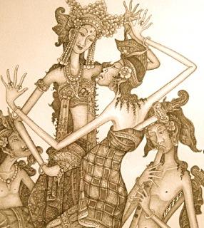 Balinese bruiloft DwiBhumi Balinese dans