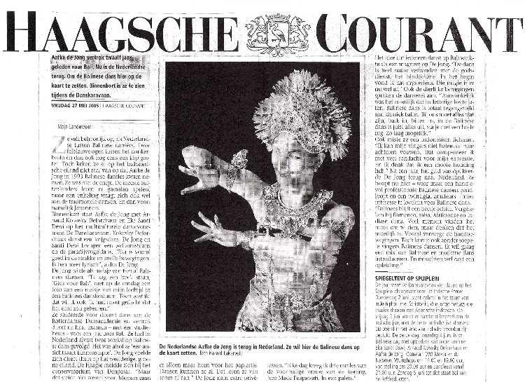 DwiBhumi-HaagscheCourant-Balinese dans-Indische Zomer